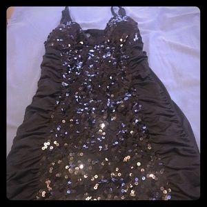 Sequin Black party dress